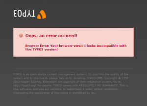 TYPO3 Error (Small)