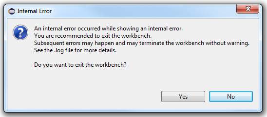 An internal error...